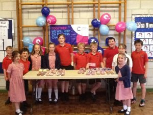 School Council Cancer Research Cake Decorating